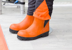 Protective working boots Royalty Free Stock Image