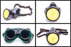 Protective workwear glasses and dust mask Royalty Free Stock Photo