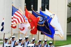 Protector de color militar de los E.E.U.U. Fotos de archivo