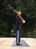 Protector de honor en el cementerio de Arlington Imágenes de archivo libres de regalías