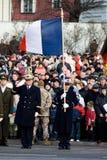 Protector de honor francés en el desfile militar Fotografía de archivo libre de regalías