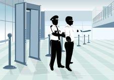Protector de la seguridad aeroportuaria Fotografía de archivo