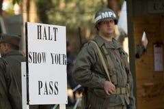Protector de la situación del soldado fotografía de archivo libre de regalías