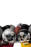 Protector de pecho con los engranajes de la bola americana y de los deportes Fotos de archivo