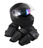 Protector motorcycle protective gear knee pad riding Elbow Knee Pads and helmet stock photos