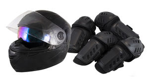 Protector motorcycle protective gear knee Royalty Free Stock Photography