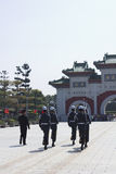 Protectores de CChanging en capilla de los mártires Fotografía de archivo