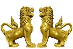 protectores del templo del león Fotos de archivo