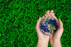 Protects the planet earth Stock Image