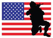 Protegendo a bandeira Imagem de Stock Royalty Free