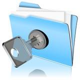 Protegendo o ícone dos dados Foto de Stock