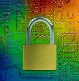 Protegga e cassaforte i vostri dati immagini stock libere da diritti