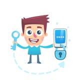 Protegga i vostri dati Fotografie Stock