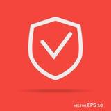 Protegga il colore bianco dell'icona del profilo isolato su fondo porpora royalty illustrazione gratis
