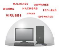 Protegga il computer Immagini Stock