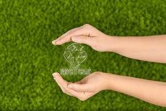 Protegga la natura, ricicli Immagini Stock