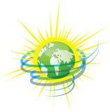 Protegga la vostra terra verde del pianeta Fotografia Stock