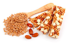 Protein bars with nuts Royalty Free Stock Image