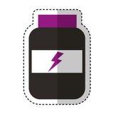 Protein bottle lifestyle icon Stock Photo
