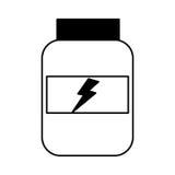 Protein bottle lifestyle icon Royalty Free Stock Image