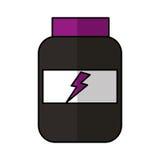 Protein bottle lifestyle icon Royalty Free Stock Photography