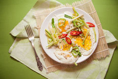 Protein breakfast with eggs Royalty Free Stock Images