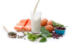 Protein diet stock photography