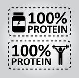 Protein labels Royalty Free Stock Photos