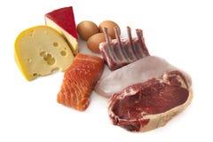 Protein-Nahrungsmittel Stockfotos