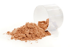 Protein Powder. A scoop of protein powder drink on white background Royalty Free Stock Photography