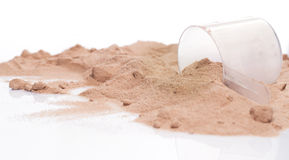 Protein powder and scoop Stock Photography
