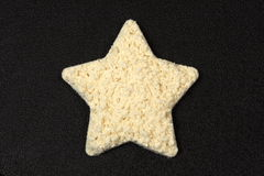 Protein powder star shape Stock Photos