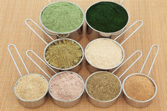 Protein-Pulver-Ergänzungen Lizenzfreies Stockfoto
