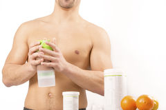 Protein shake sport fitness healthy lifestyle Royalty Free Stock Photo