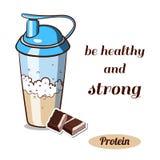 Protein Shaker Chocolate Royalty Free Stock Photo
