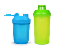 Protein shaker. Isolated on a white background Stock Photography