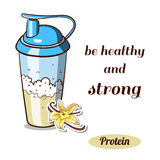 Protein Shaker Vanilla Royalty Free Stock Photo
