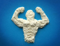 Protein. Supplements for bodybuilders Stock Photos
