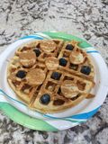 Protein Waffles Stock Images