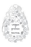 Proteina del vegano Fotografie Stock Libere da Diritti