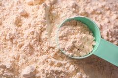 Proteina proszek z miarką, zdjęcie stock
