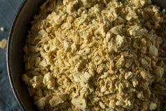 Proteina vegetale strutturata organica cruda Immagine Stock