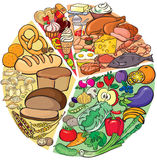 Proteinkolhydratet bantar Royaltyfri Fotografi