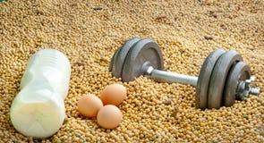 Proteinkonkurrenz stockfotos