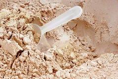 Proteinpulver. stockbilder