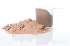 Proteinpulver och skopa Royaltyfri Fotografi