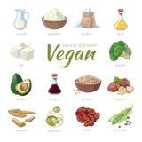 Proteinquellen des strengen Vegetariers Anlage basierte Protein Stockfotografie