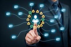 Proteja contra o Spam imagem de stock royalty free