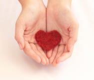 Proteja el corazón Imagenes de archivo