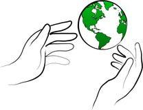 Proteja el mundo Imagen de archivo libre de regalías